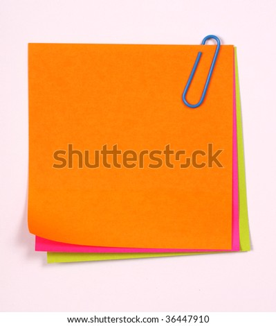 Color note papers