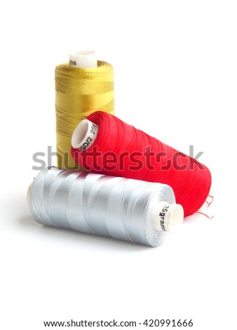 Color of thread on white background