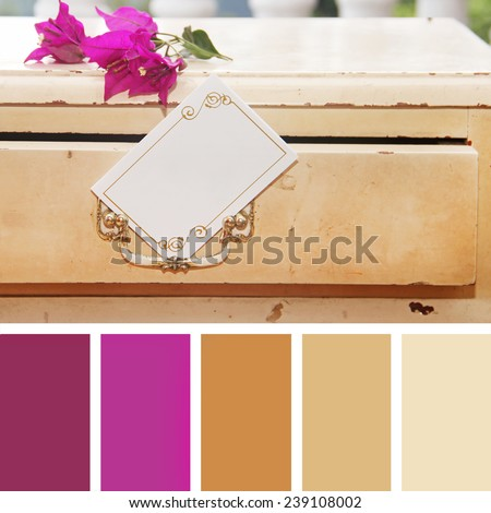 color palette swatches. pastel hues - stock photo