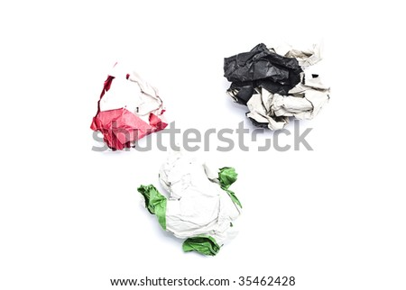Colorful balls of paper - stock photo