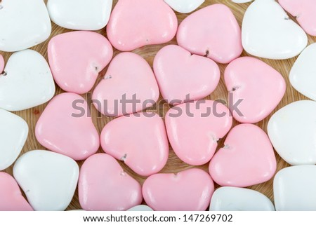 . colorful heart chocolate candy