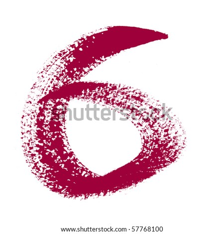 6 - Colorful numbers isolated over the white background