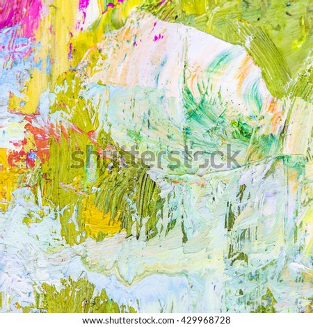 Colorful Wallpaper By Oil Painting Brush Strokes Texture Background