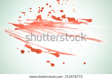 Concept Halloween Blood stains color vintage. - stock photo