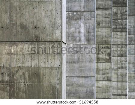 concrete pillars - stock photo