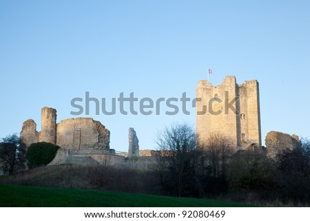 Conisbrough Castle in Yorkshire, UK - stock photo