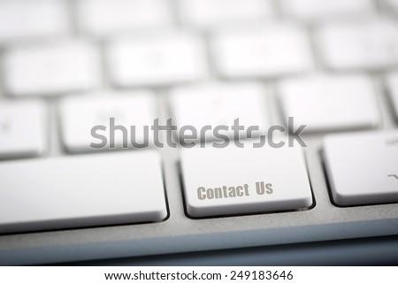 """""""Contact Us"""" on metallic keyboard - stock photo"""
