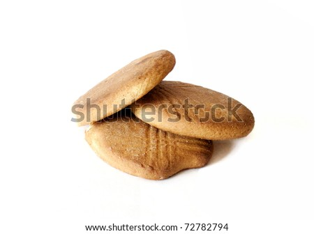 3 cookies on a white background