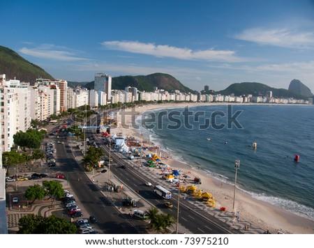 Copacabana Beach, Rio de Janeiro, Brazil. - stock photo