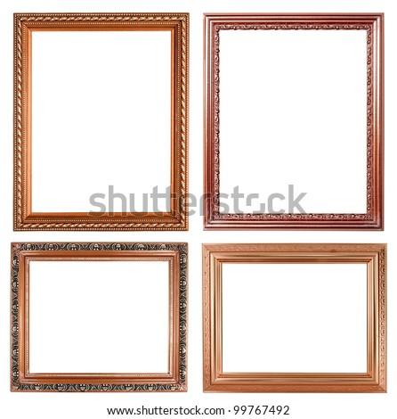 4 copper picture on white background - stock photo