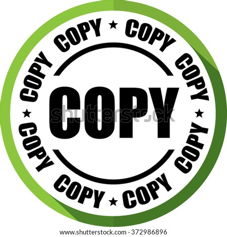 """COPY"" green, Button, label and sign."