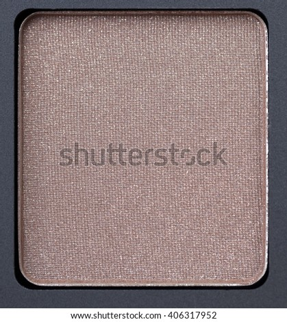 cosmetics for makeup on eyes, eye shadow close-up, small depth of field - stock photo