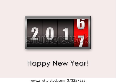 2017 countdown timer  isolated on white background.