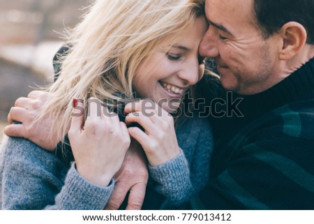 Couple in love - Beginning of a Love Story. Man and woman having fun together.
