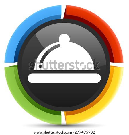 covered plate button  - stock photo