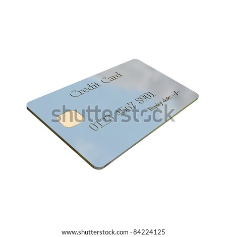 credit card in white background - stock photo