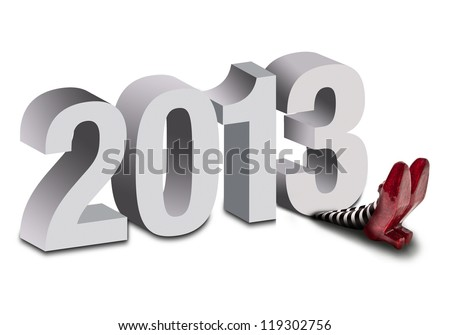 2013 crushing the wicked witch - stock photo