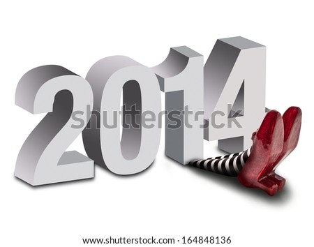 2014 crushing the wicked witch - stock photo