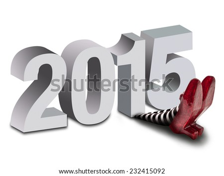 2015 Crushing the wicked witch - stock photo