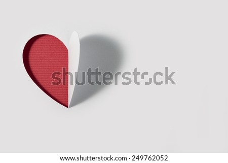 Cutted paper Heart Valentines Day - Stock Image  - stock photo