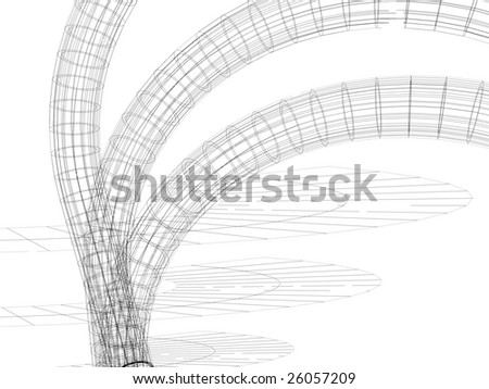 3d abstract - stock photo