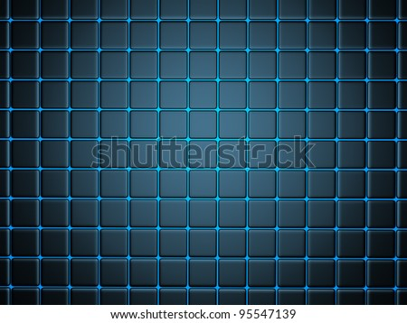 3d abstract background smoothed plates - stock photo