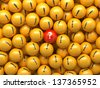 3d abstract business information background, balls with symbols - stock vector