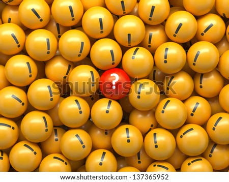 3d abstract business information background, balls with symbols - stock photo