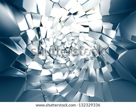 3d abstract crystal star background - stock photo