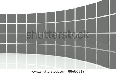 3d abstract design squares - stock photo