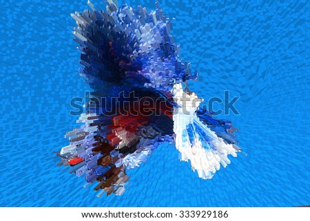 3D Abstract for background - stock photo