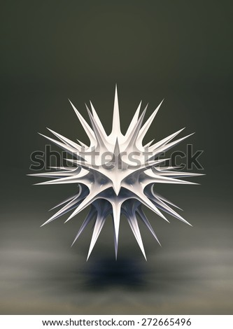 3d abstract geometric structure like sea urchin - stock photo