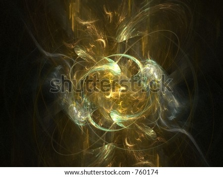 3D abstract in gold shades, very suitable as a background and for webdesign - stock photo