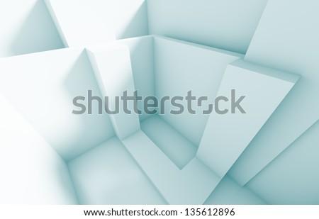 3d Abstract Interior Design - stock photo