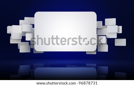 3D abstract rectangle banners background - stock photo