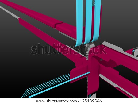 3d Abstract render for backgrounds or design use. - stock photo