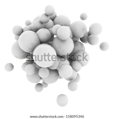 3d Abstract Spheres  - stock photo