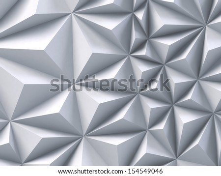3d abstract white triangle background - stock photo