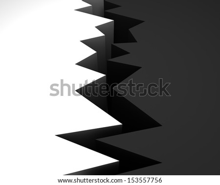 3d abyss. Concept - stock photo