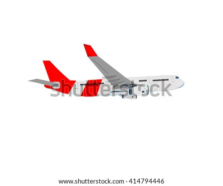 3d airplane plane travel air fly transportation sky