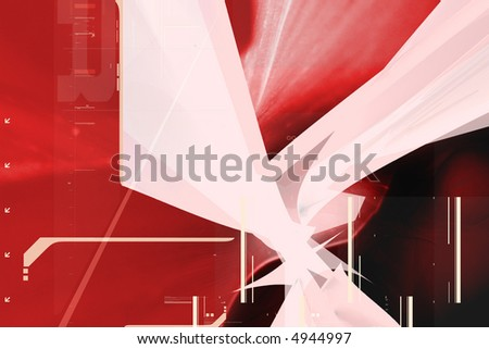 3d alien abstract composition - stock photo