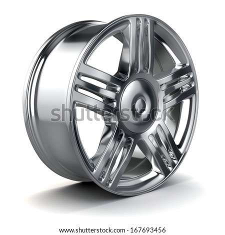 3d alloy wheel - stock photo