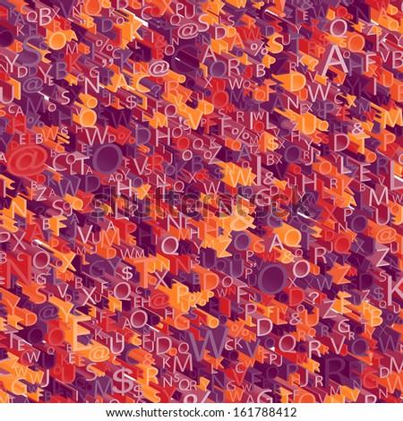 3D Alphabet background - stock photo