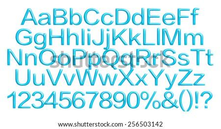 3D Alphabet Set on white background. - stock photo