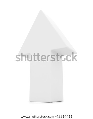 3D arrow isolated over a white background