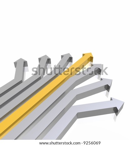 3D arrows (high resolution 3D image) - stock photo