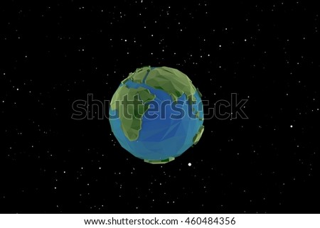 3D background earth model low polygon