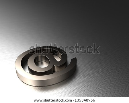 3d background with a symbol of e-mail from steel