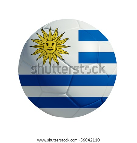3D ball with Uruguay flag