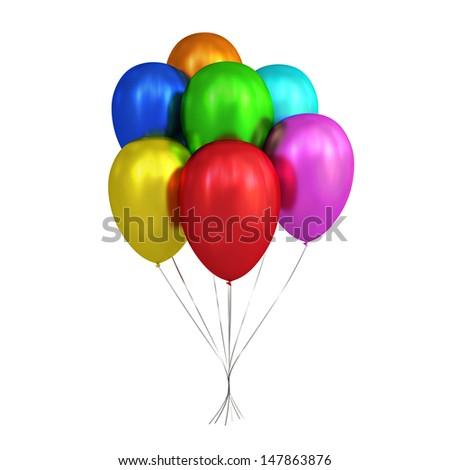 3D Balloons - stock photo